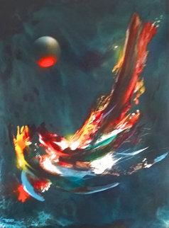 Comet 38x30 Original Painting - Leonardo Nierman