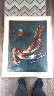 Comet 38x30 Original Painting by Leonardo Nierman - 1