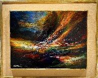 Wind in the Valley 1967 17x20 Original Painting by Leonardo Nierman - 1