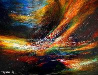 Wind in the Valley 1967 17x20 Original Painting by Leonardo Nierman - 0