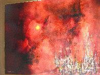 City Sunset 1963 32x39 Super Huge Original Painting by Leonardo Nierman - 3