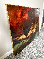 Birth of Fire 1977 32x40 Original Painting by Leonardo Nierman - 2