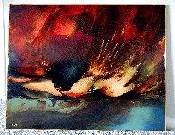Birth of Fire 1977 32x40 Original Painting by Leonardo Nierman - 1