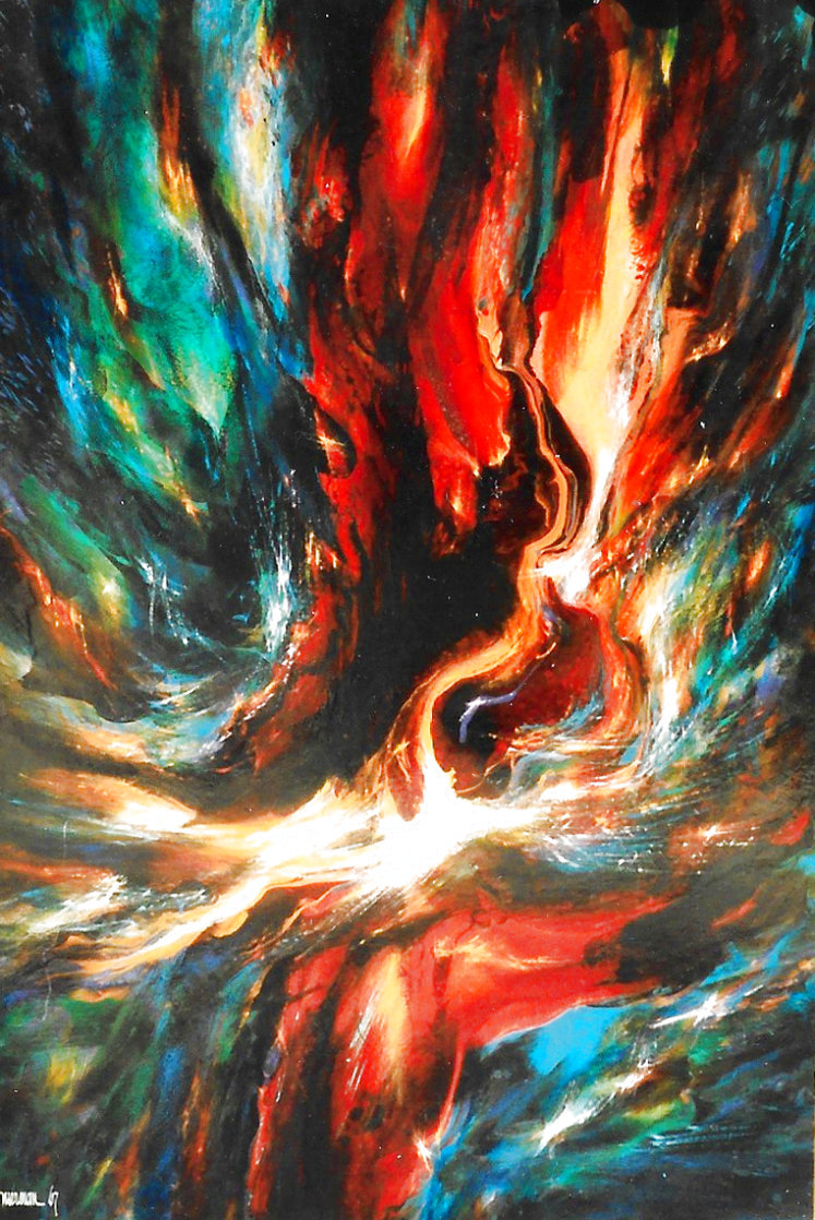 Firebird 1967 64x44 Super Huge  Original Painting by Leonardo Nierman