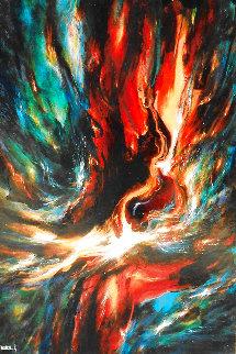 Firebird 1967 64x44 Super Huge  Original Painting - Leonardo Nierman