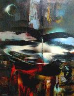 Winds of Springtime 32x24 Original Painting by Leonardo Nierman - 0