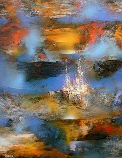 Enchanted City 31x23 Original Painting by Leonardo Nierman