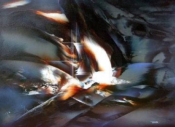 Ghost Ship 35x48 Original Painting - Leonardo Nierman