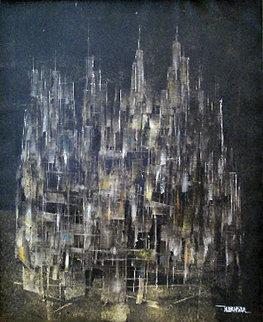 City 1959 19x15 Original Painting by Leonardo Nierman