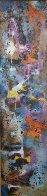 Gravity 1960 32x8 Original Painting by Leonardo Nierman - 0