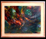 Momento De Vuelo, Moment of Flight 1965 32x40 Super Huge Original Painting by Leonardo Nierman - 1