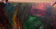 Momento De Vuelo, Moment of Flight 1965 32x40 Huge Original Painting by Leonardo Nierman - 5