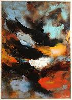 Prophesy 1980 54x41 Super Huge Original Painting by Leonardo Nierman - 0