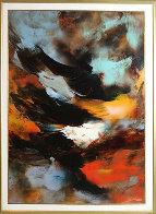 Prophesy 1980 54x41 Super Huge Original Painting by Leonardo Nierman - 1
