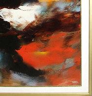 Prophesy 1980 54x41 Huge Original Painting by Leonardo Nierman - 2