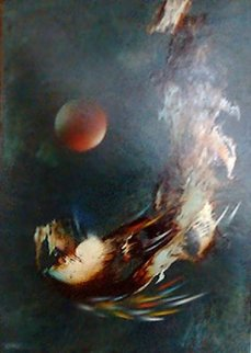 Meteoro 1974 47x39 Original Painting - Leonardo Nierman