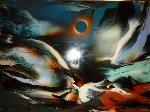 Eclipse 40x53 Original Painting - Leonardo Nierman