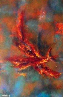 Untitled Early Painting 1965 23x15 Original Painting by Leonardo Nierman