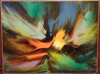 Genesis 24x32 Huge Original Painting by Leonardo Nierman - 1