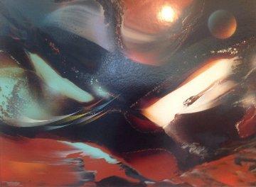 Genesis 35x27 Original Painting - Leonardo Nierman
