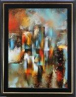 Refracting Light 38x30 Original Painting by Leonardo Nierman - 1