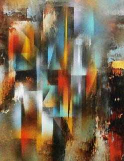 Refracting Light 38x30 Original Painting - Leonardo Nierman