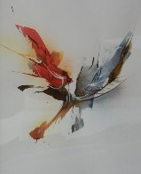 Dynamic Watercolor 21x17 Watercolor by Leonardo Nierman - 3