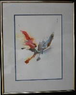 Dynamic Watercolor 21x17 Watercolor by Leonardo Nierman - 1