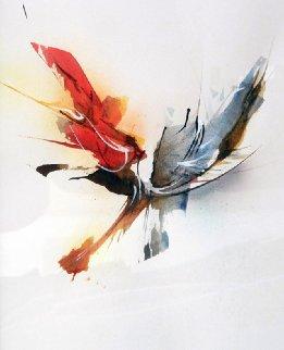 Dynamic Watercolor 21x17 Watercolor by Leonardo Nierman