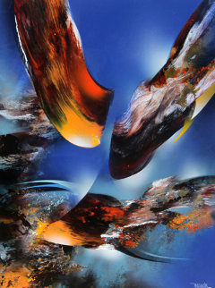 Bird of Paradise 32x24 Original Painting - Leonardo Nierman