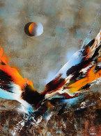 Bird of Paradise 39x31 Original Painting by Leonardo Nierman - 0