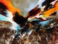 Bird of Paradise 39x31 Original Painting by Leonardo Nierman - 3