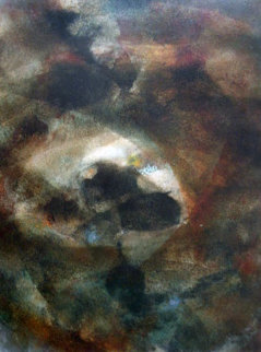 Untitled Early Painting 1961  (Early) 31x23 Original Painting by Leonardo Nierman