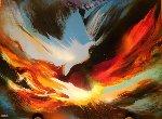 Volcanic Fury 24x32 Original Painting - Leonardo Nierman