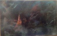 Enchanted City 54x74 Huge Original Painting by Leonardo Nierman - 1