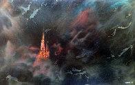 Enchanted City 54x74 Huge Original Painting by Leonardo Nierman - 0
