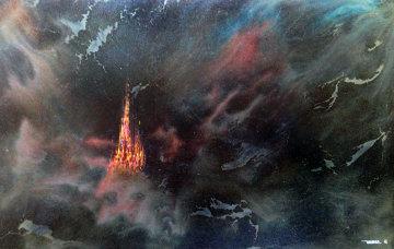 Enchanted City 54x74 Original Painting by Leonardo Nierman