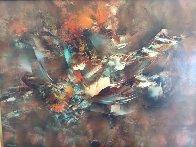 Autumn Wind 1977 37x49 Super Huge Original Painting by Leonardo Nierman - 1
