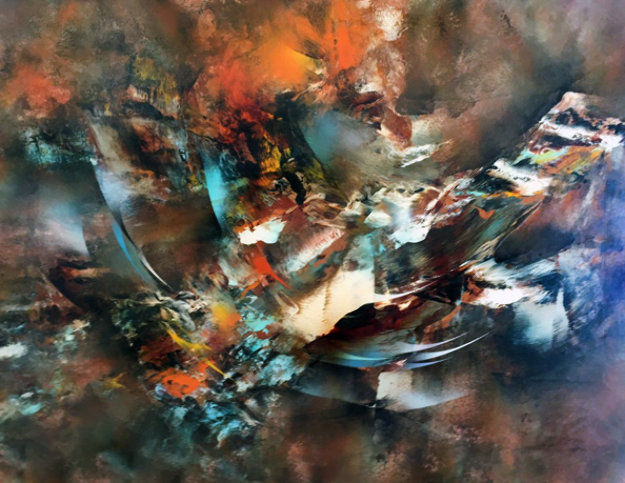 Autumn Wind 1977 37x49 Original Painting by Leonardo Nierman