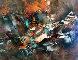 Autumn Wind 1977 37x49 Original Painting by Leonardo Nierman - 0