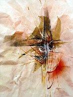 Reflections Watercolor 1980 23x16 Watercolor by Leonardo Nierman - 0