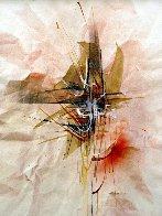 Reflections Watercolor 1980 23x16 Watercolor by Leonardo Nierman - 1