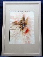 Reflections Watercolor 1980 23x16 Watercolor by Leonardo Nierman - 2