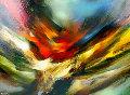 Solar Flare 25x32 Original Painting - Leonardo Nierman