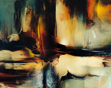 Abstract Eagle 37x27 Original Painting by Leonardo Nierman