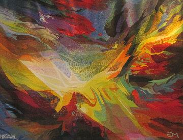 Birth of the Sun Wool Unique Tapestry 1972 56x76 Tapestry - Leonardo Nierman