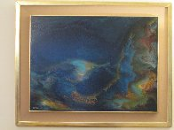 Storm At Sea 1968 39x31 Original Painting by Leonardo Nierman - 1