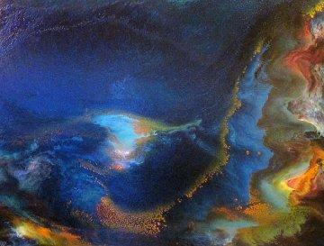 Storm At Sea 1968 39x31 Huge Original Painting - Leonardo Nierman