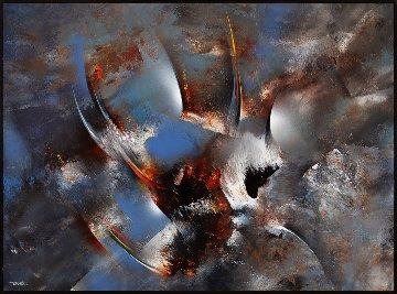 Cosmic Wind 35x48 Original Painting by Leonardo Nierman