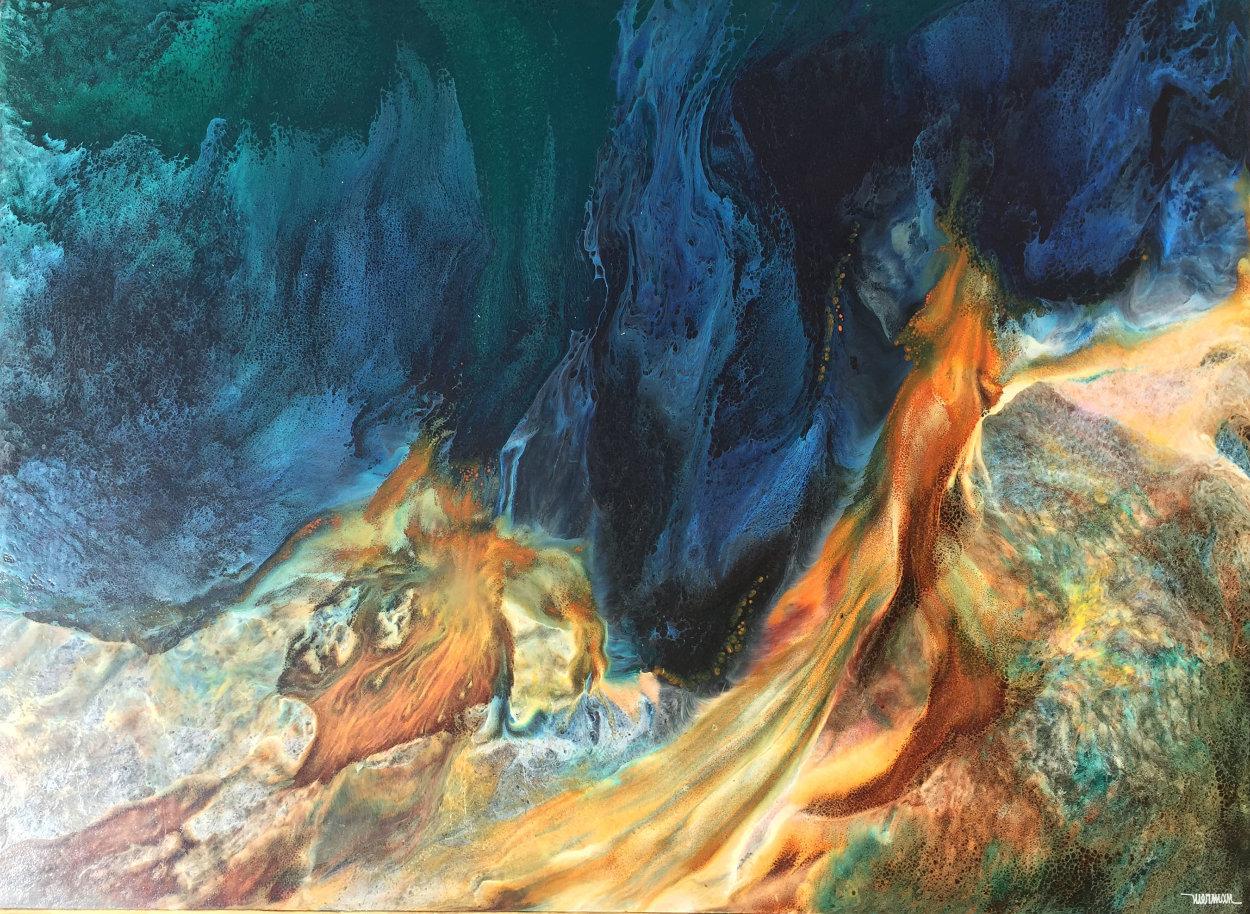 Prehistoric Landscape 36x48 Super Huge Original Painting by Leonardo Nierman